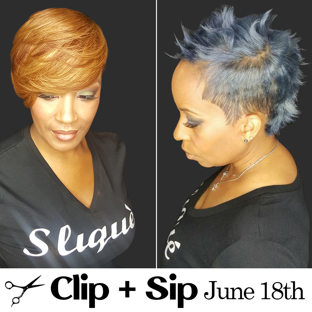 Cut and Sip with Monique Stokes of the Slique Hair Studio in Harlem